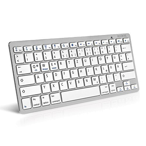 Kabellose Bluetooth Tastatur Für alle iOS, iPad, Android, Mac, & Windows Geräte