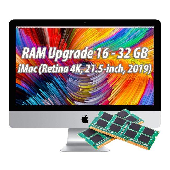 Arbeitspeicherupgrade iMac (Retina 4K, 21.5-inch, 2019) 16 - 32 GB