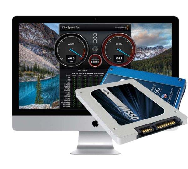 500GB SSD Upgrade iMac 2012 - 2015 Retina 5K (A1418/A1419) inkl. Einbau