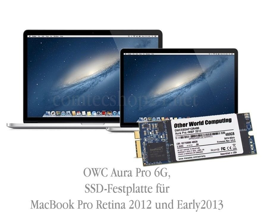 OWC 500GB Aura Pro SSD MacBookPro 2012/Early 2013 OWCS3DAP12R500