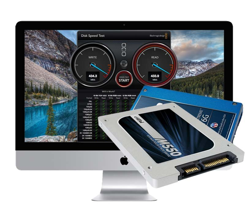 500GB SSD Upgrade iMac 2012 - 2017 Retina 5K (A1418/A1419) inkl. Einbau