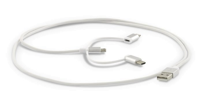 LMP 3-in-1 USB-A zu Lightning | USB-C | Micro USB Kabel