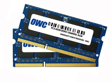 OWC 16 GB KIt 2 x 8GB DDR3 SO-DIMM PC3-8500 1066Mhz