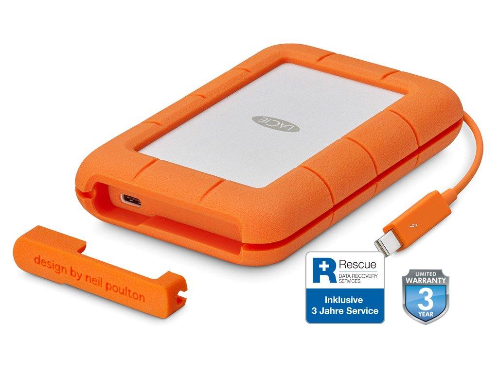 LaCie Rugged Thunderbolt USB-C 500GB SSD (integ. Cable) STFS500400