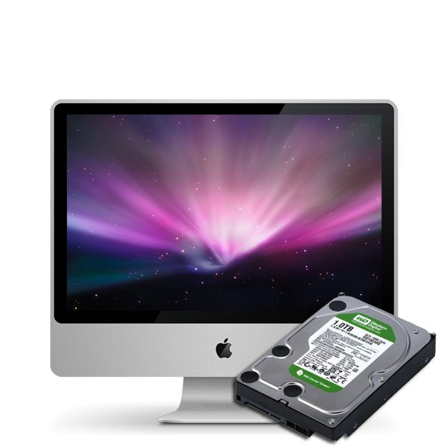 Festplattentausch 1TB für Apple iMac 20 A1224 Mid 2009