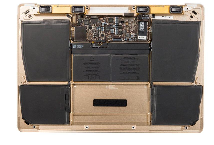 Bottom Case mit Batterie, Gold 661-04856