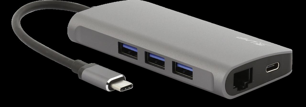 LMP USB-C Video Hub 5-Port space grau