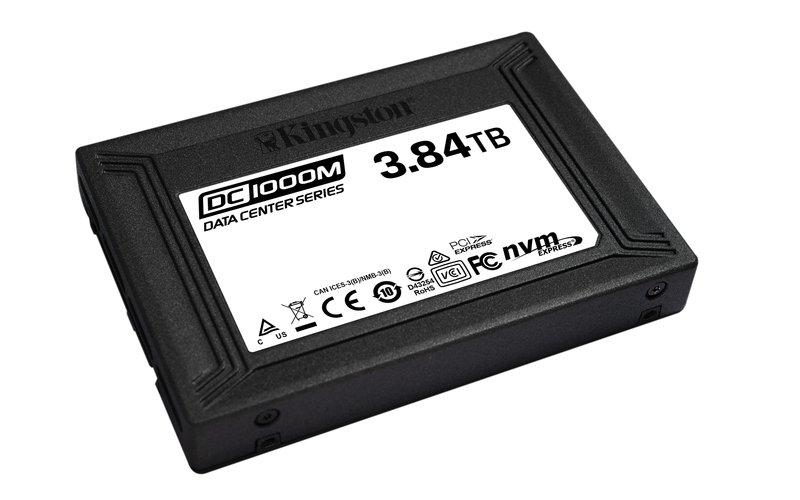 KINGSTON 3840GB U.2 NVMe SSD, DC1000M-Serie