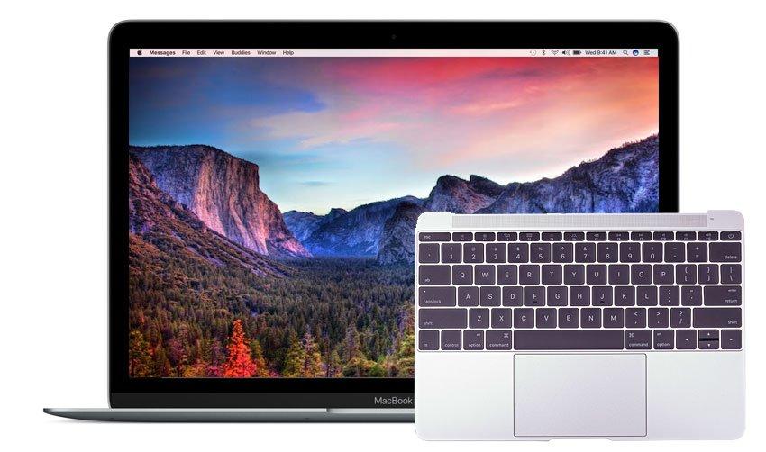 Reparatur Tastatur Macbook Macbook 12 inch Early 2016 A1534 Space Gray, Silver, Gold, Rose Gold