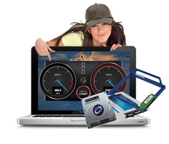 Fusiondrive Upgrade 750 GB für Macbook Pro A1278, A1286, A1297 inkl. Einbau