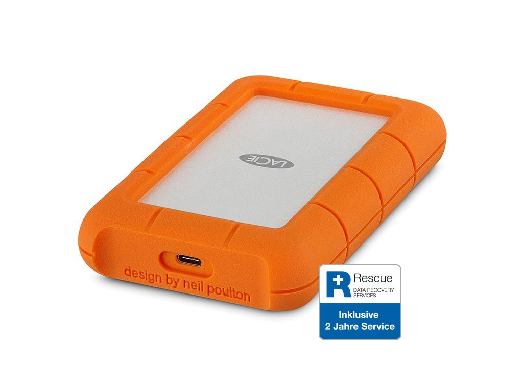 LaCie Rugged USB-C Mobile Drive 1TB HDD STFR1000800