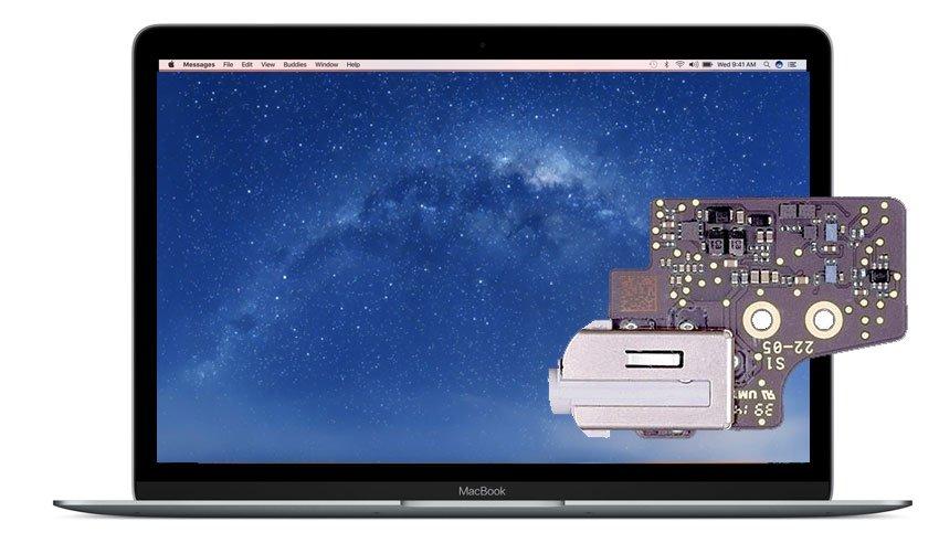 Macbook Audioboard mit Kopfhörerbuchse