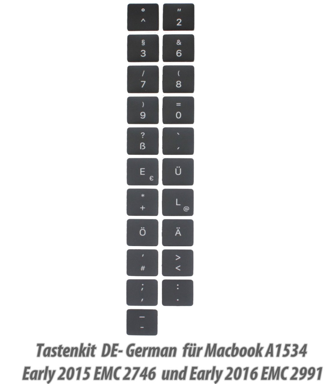 1x Tasten,Tastaturkit German Macbook Retina, 12-inch, Early 2015 /2016 A1534