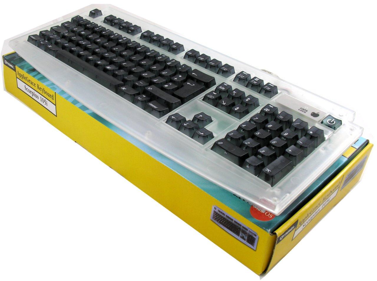 SC-105GR, USB-Tastatur für Mac, frostweiß, dt. Layout