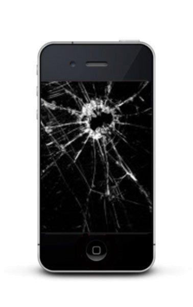 Iphone 4 Austausch Frontglas mit Digitizer schwarz