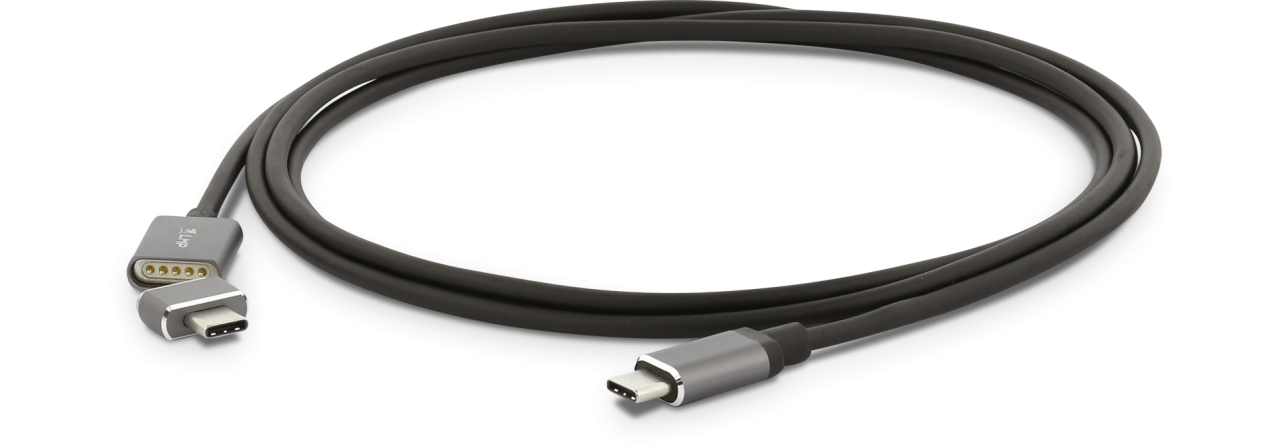 LMP Magnetic Safety Ladekabel 3m USB-C (f) zu USB-C (m) space