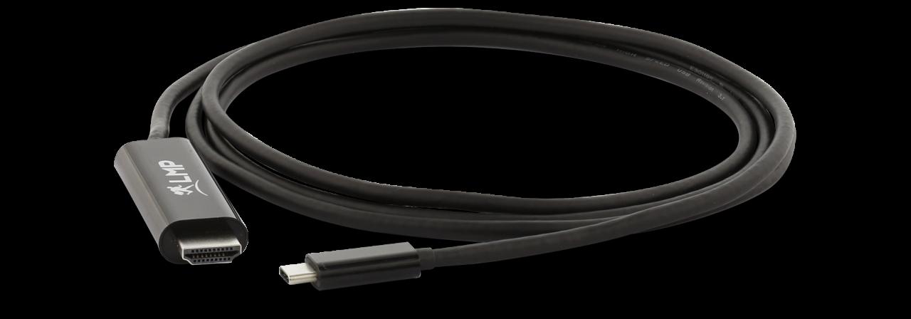 LMP USB-C zu HDMI 2.0 Kabel 1,8m, schwarz