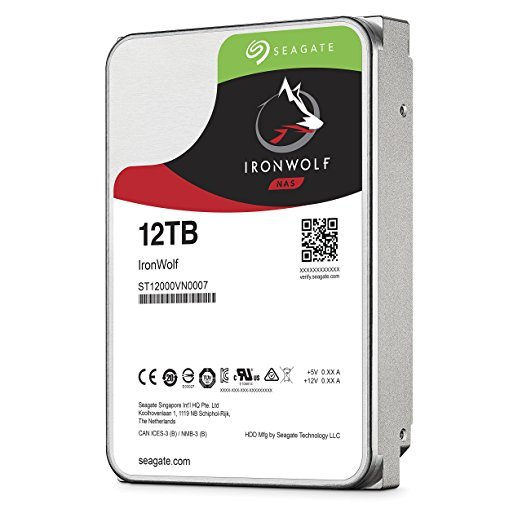 """SEAGATE IronWolf NAS 12TB 3.5"""" HDD, 7200 rpm"""