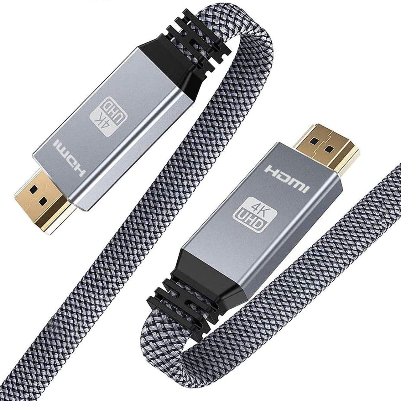 HDMI Kabel 2 Meter 4K HDMI Flach 2.0 Kabel 4K@60Hz Highspeed