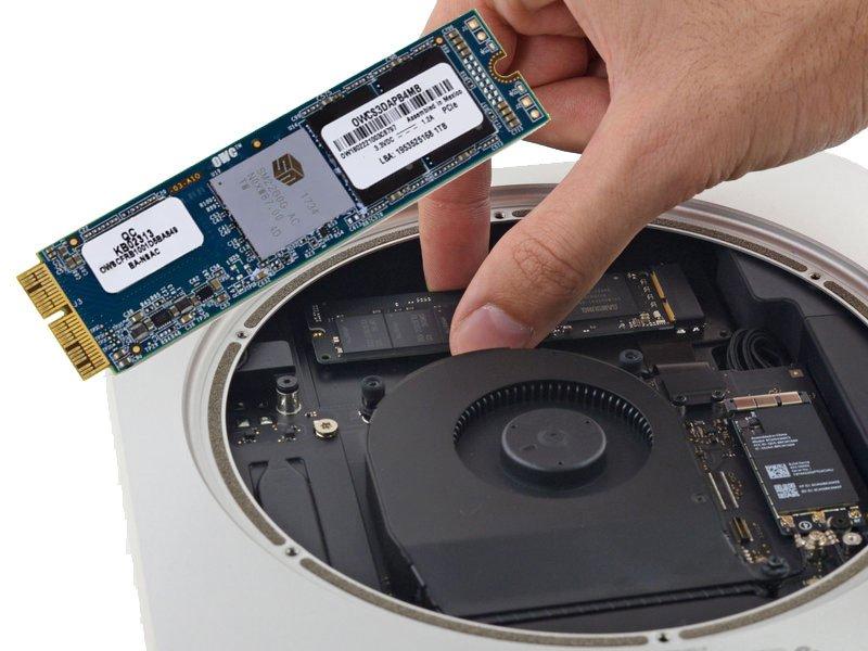 DIY OWC 1TB Aura Pro X2 SSD-KIT für MacMini (Late 2014) inkl. SSD Kabel und Tools