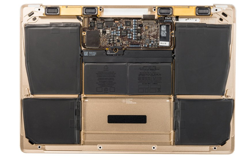 Bottom Case mit Batterie, Gold 661-04856