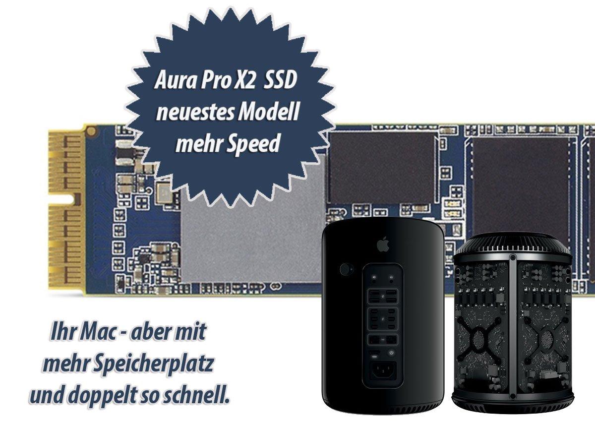 OWC 240 GB Aura Pro X2 SSD für Mac Pro (Late 2013) mit Kühlkörper OWCS3DAPT4MP02P