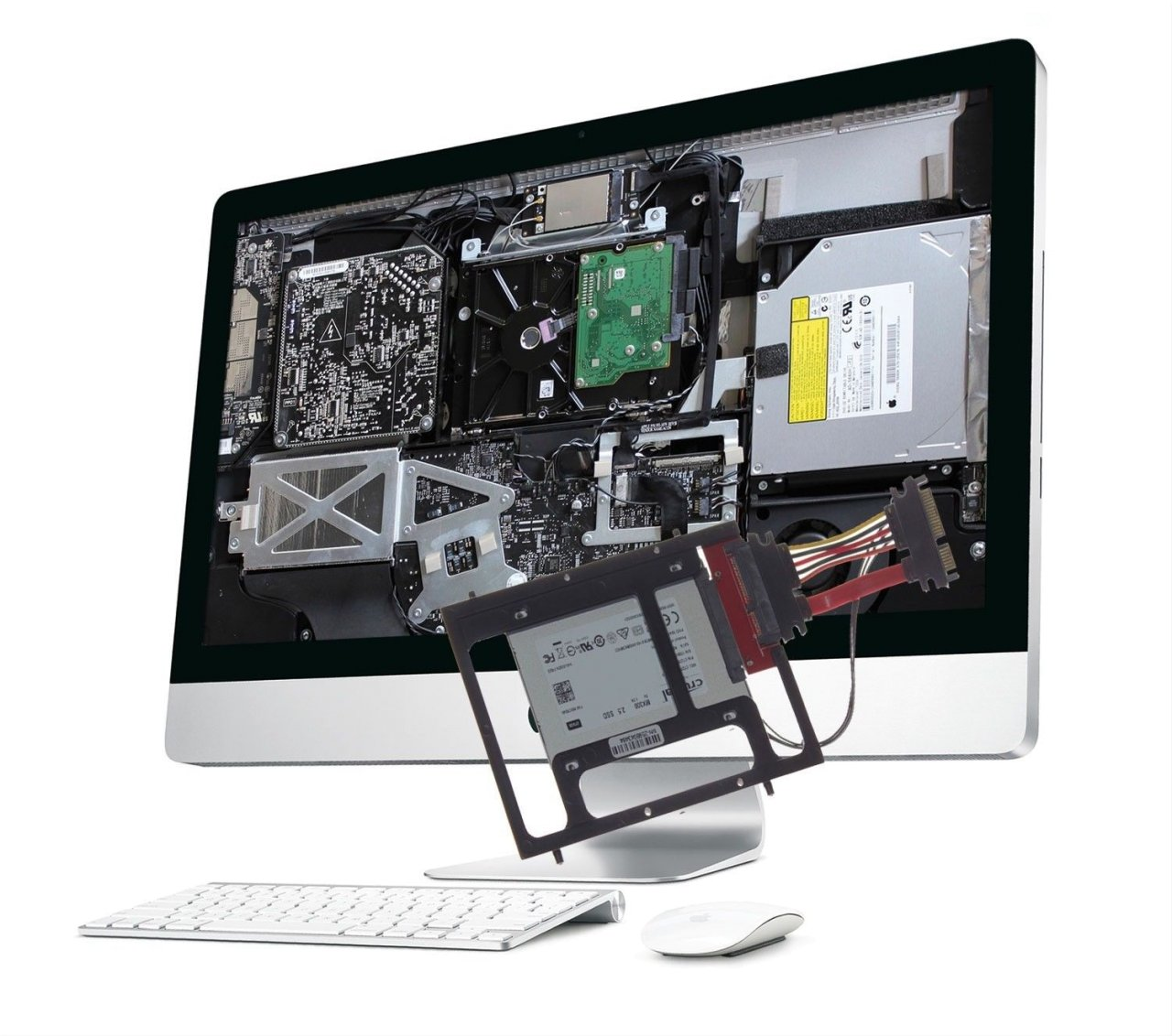 "DIY 1 TB SSD Upgradekit iMac 21.5"" A1311 / iMac 27"" A1312 Mid und Late 2011"