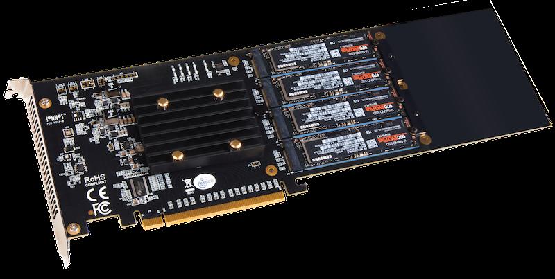 SONNET Fusion SSD M.2 4x4 PCIe Karte, neue Generation FUS-SSD-4X4-E3S